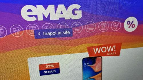 eMAG listează produse la preț de pomană: telefoane de la 290 lei, laptopuri de la 830 lei