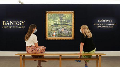 """Parodia, la rang de artă: suma extraordinară cu care s-a vândut """"Show me the Monet"""" de Banksy"""