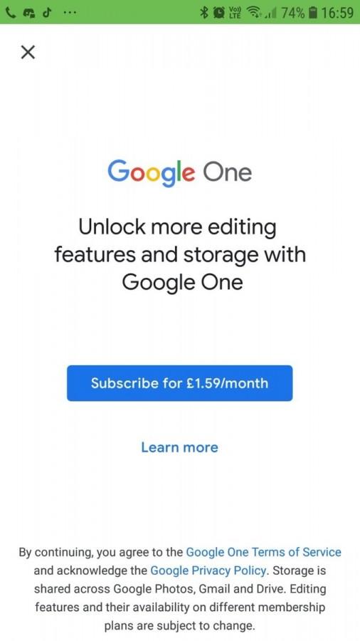 google one upgrade