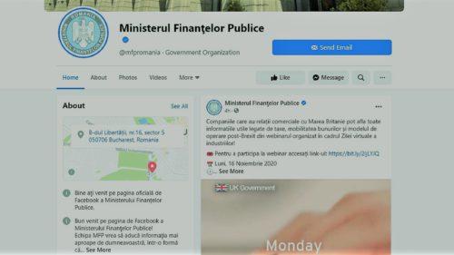 """Ministerul Finanțelor """"is now online"""": cum vrea instituția să se promoveze pe Facebook, Twitter și Instagram"""