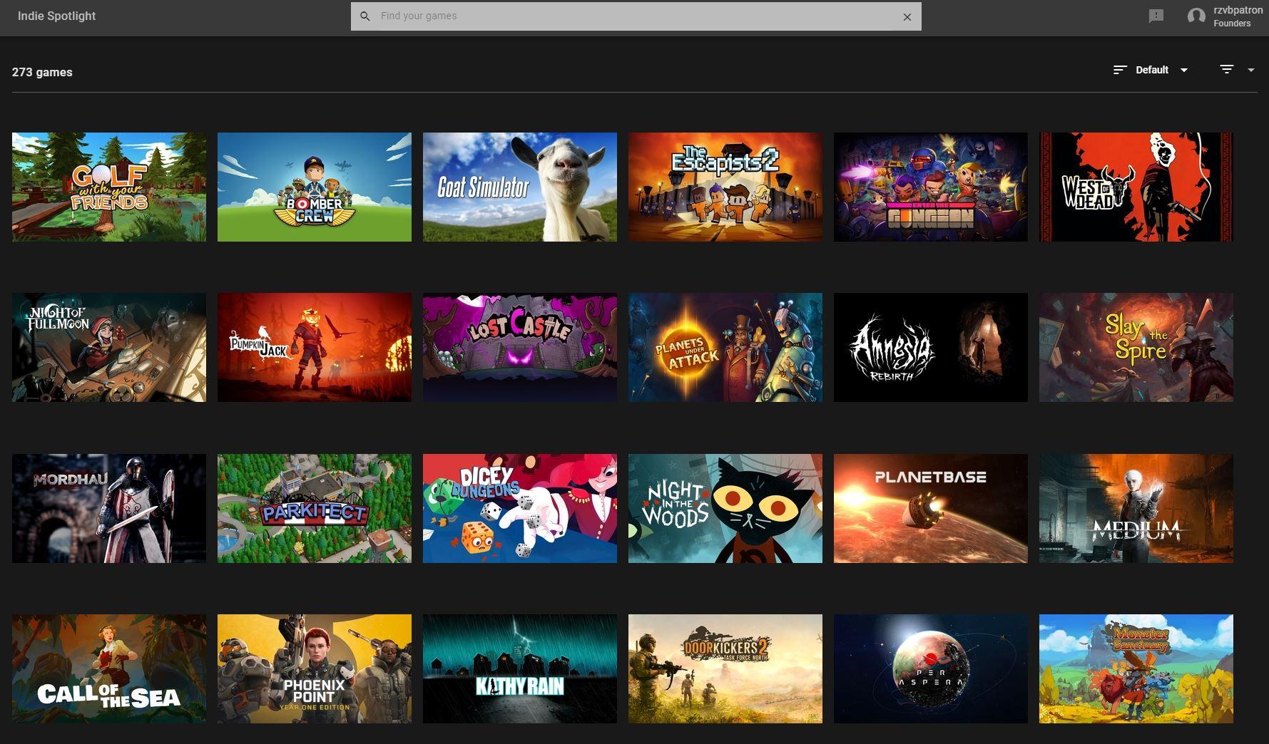 GeForce Now Indie games