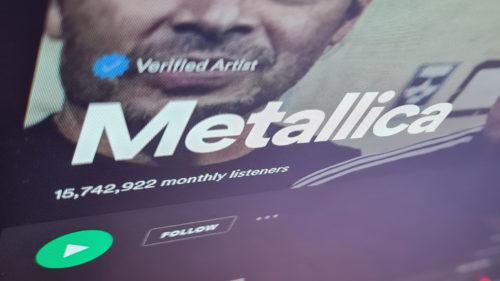 Metallica a făcut valuri pe Spotify: al doilea an în care a depășit toate recordurile