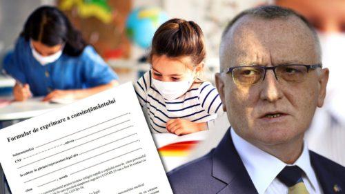 Anunțul de ultimă oră al ministrului Educației. Formularul obligatoriu pe care trebuie să-l completeze toți părinții care au copii cu simptome