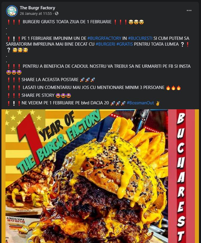 the burgr factory bucuresti burger