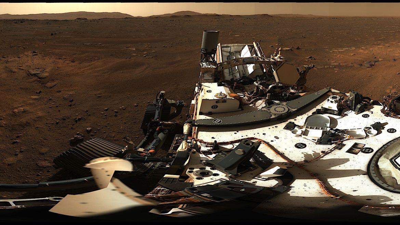 Această imagine bizară a fost surprinsă de roverul Perseverance pe Marte. Ce spune NASA despre fotografie