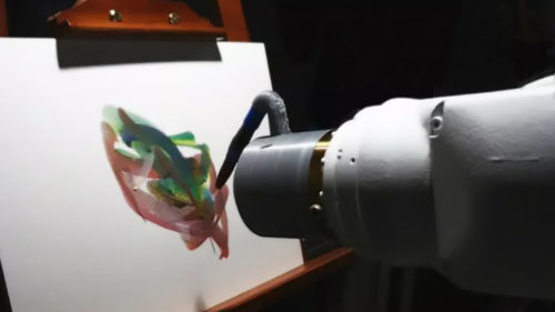 """Robotul artist care stă și """"se gândește"""", înainte să miște pensula: cum face concurență  pictorilor"""