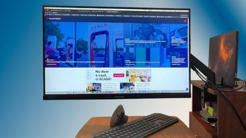 """Experiență — cum mi-am transformat laptopul într-o stație de lucru cu Philips, Logitech și câteva """"chinezării"""""""