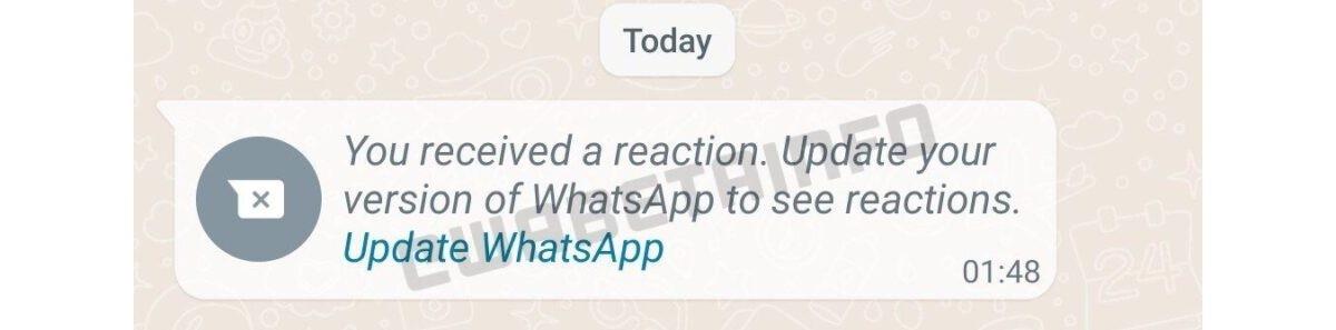 whatsapp reactii