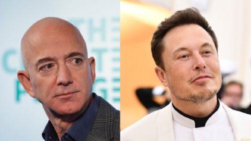 Elon Musk îl ia peste picior pe Jeff Bezos: cu ce l-a depășit de data asta